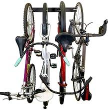 bike wall rack hooks storage vertical upright hanging metal space efficient compact narrow garage #1