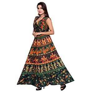 maxi dress for womens cotton
