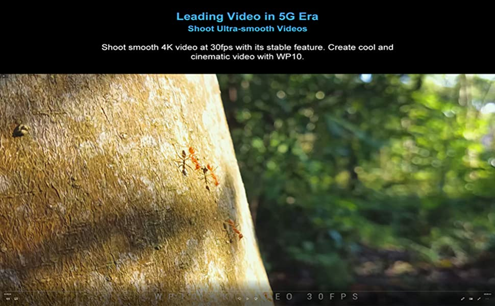 4K 60fps video