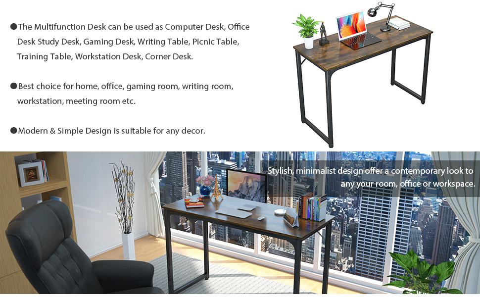 rustic brown desk