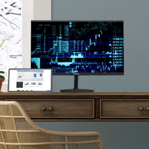 Optimized 75Hz refresh rate,anti-glare treated screen, and low blue light filter