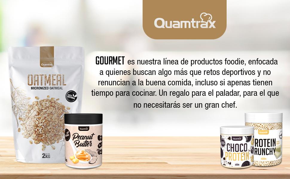 Quamtrax Gourmet Avena Instantánea en polvo, Sabor Chocolate - 2000 gr