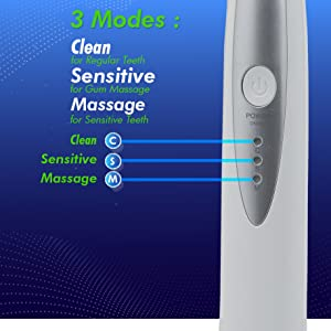 clean and sensitive toothbrush massage