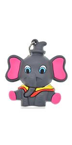Thumb Drive 64GB Cute Flash Drive Elephant