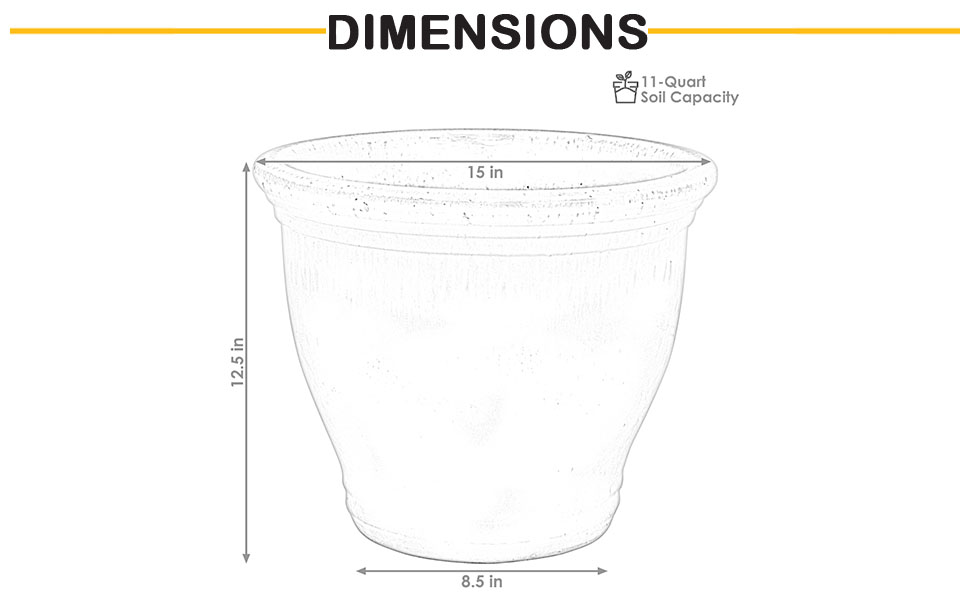 dimensions of planter