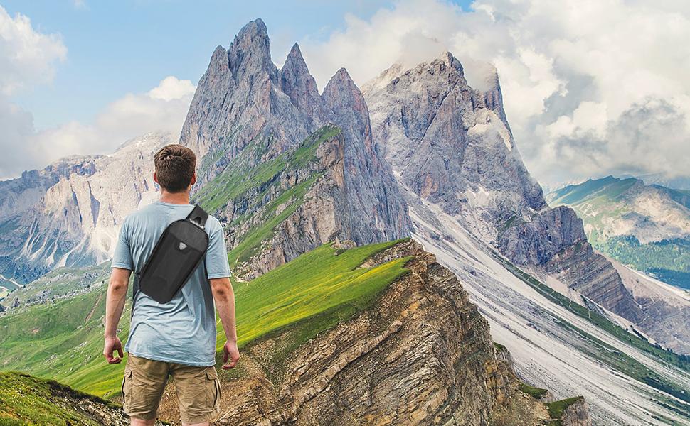 Sling bag Crossbody shoulder backpack travel outdoors anti-theft