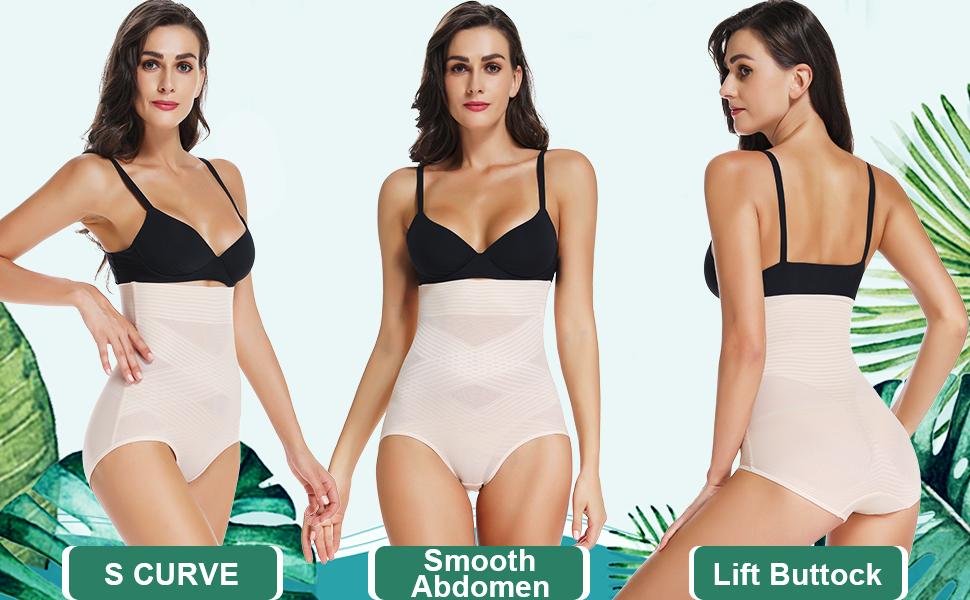 Women Lingerie Underwear Body Tummy Bum Control Full Briefs High Waisted Panties