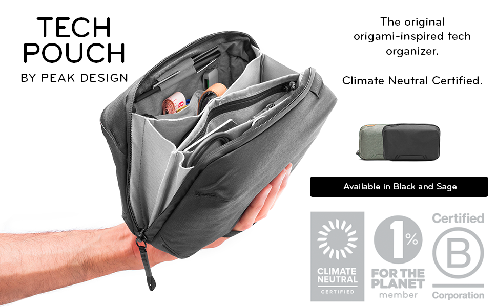 Peak Design tech pouch black, for cables, filters and miscellaneous accessories
