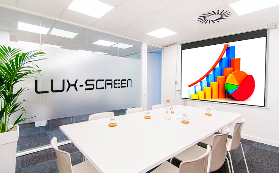 """pantalla para proyector de 140"""" electrica, 4k fullhd, alto brillo, ganancia de contraste, barata"""