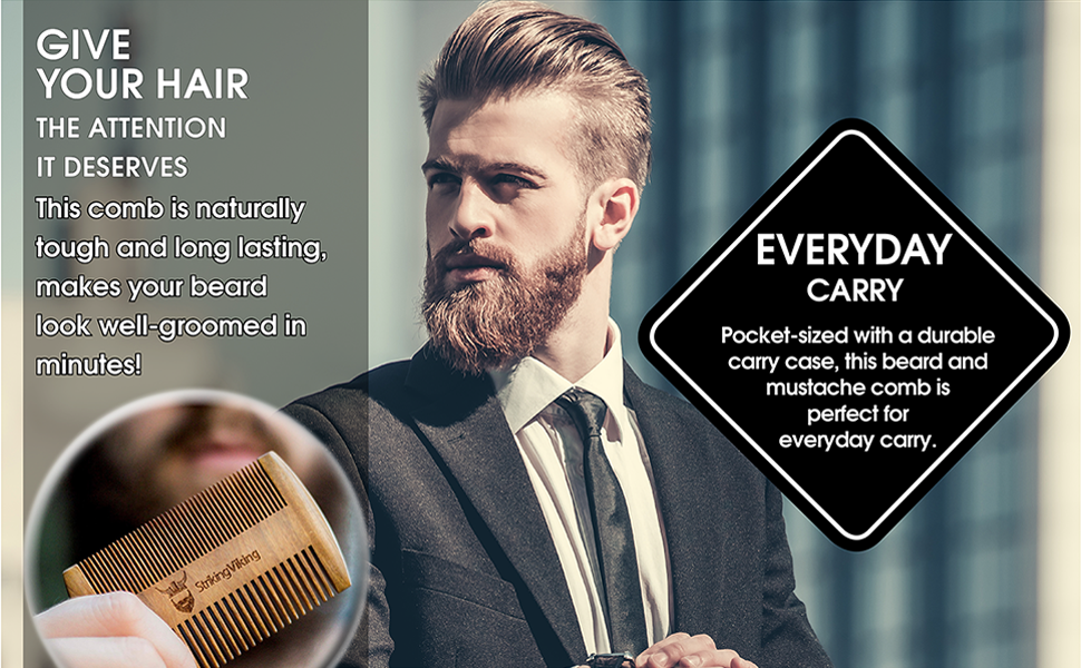 best beard comb 2020 beard comb with durable carry case
