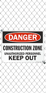 Construction Zone Keep Out
