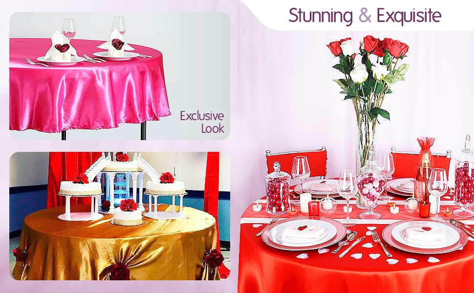 Satin Round Tablecloth