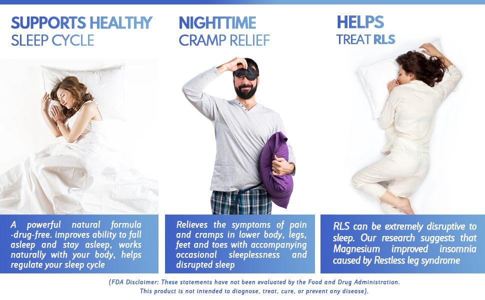 healthy sleep cycle cramp relief rls