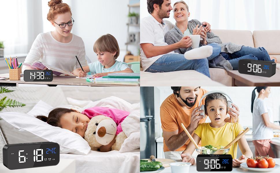 väckarklocka digital nätström