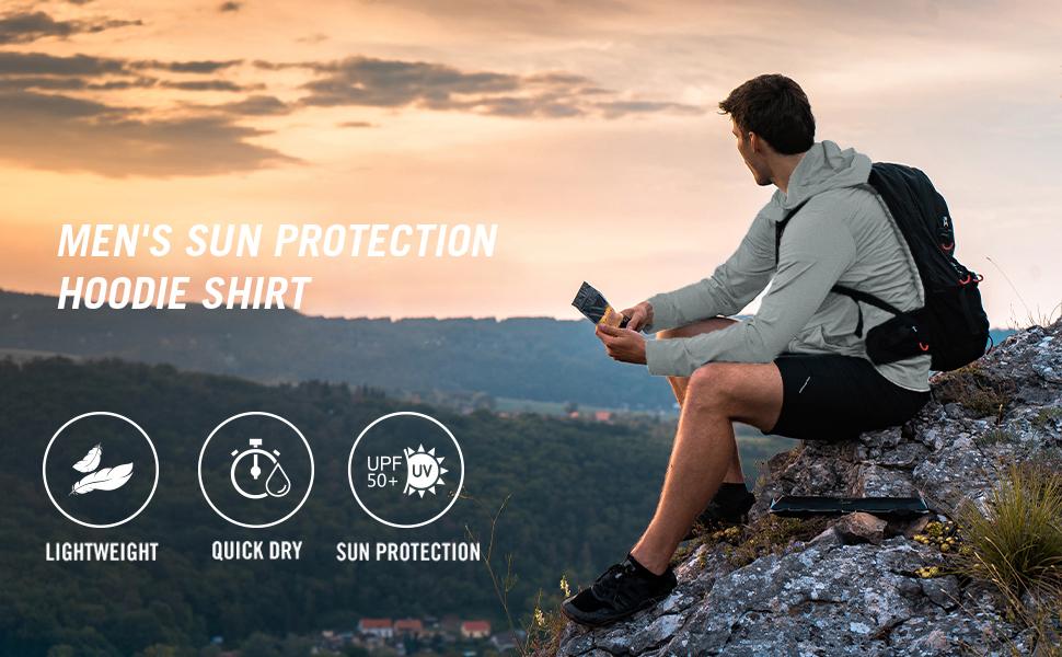 Mens Sun Protection Hoodie