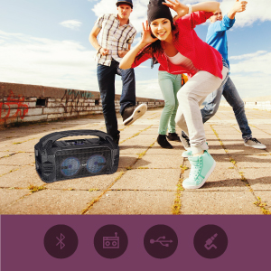 FINGERS Knockout Baby Portable Speaker at an outdoor location