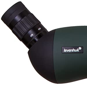 Blaze BASE 60 Spotting Scope angled eyepiece allows for observing from the most comfortable position