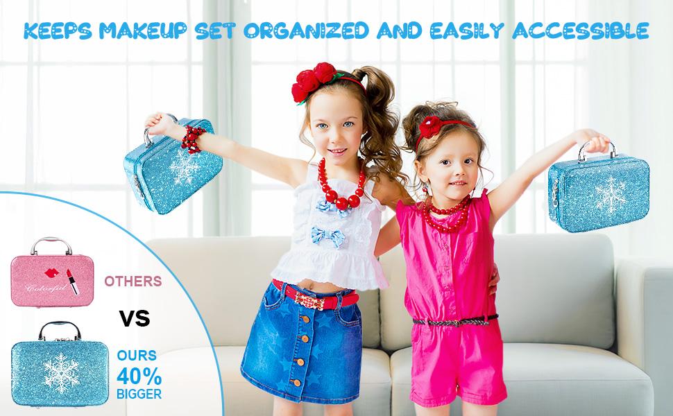 Non-toxic, washable, kids friendly makeup kit for kids