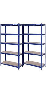 Lagerregal - 150 x 75 x 30cm - blau