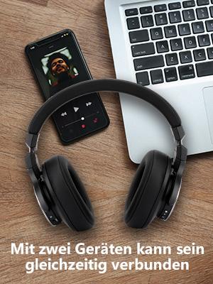 Aktive Noise Cancelling Kopfhörer Bluetooth NC75