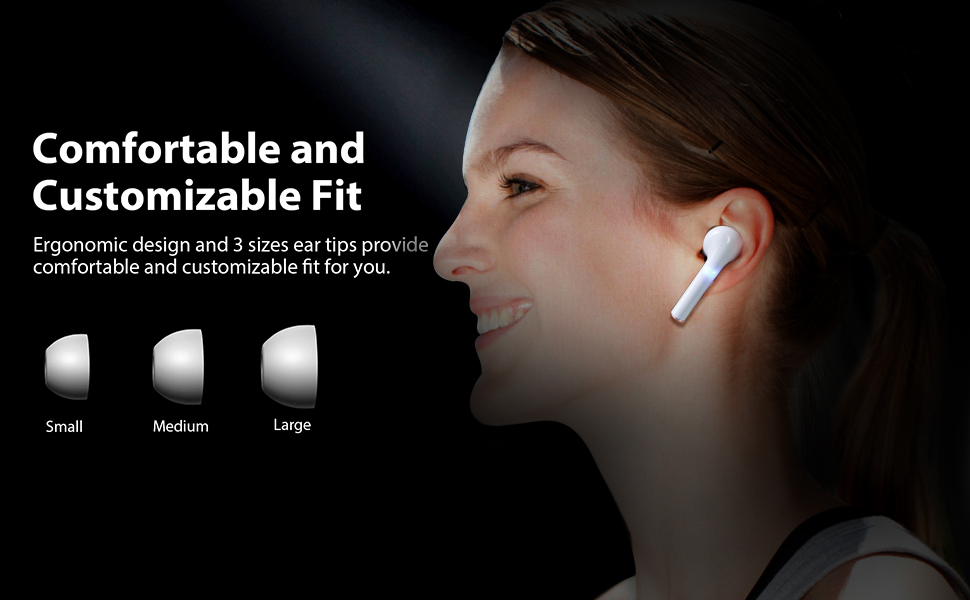 Bluetooth Wireless Headphone Comfortable and customizable Fit