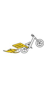 Size chart for the Strider Balance Bike 12 Pro