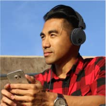 JLab neon headphones with wire over ear