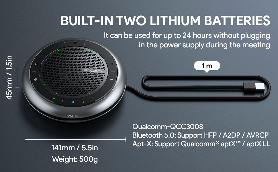 Built-in two lithium batteries
