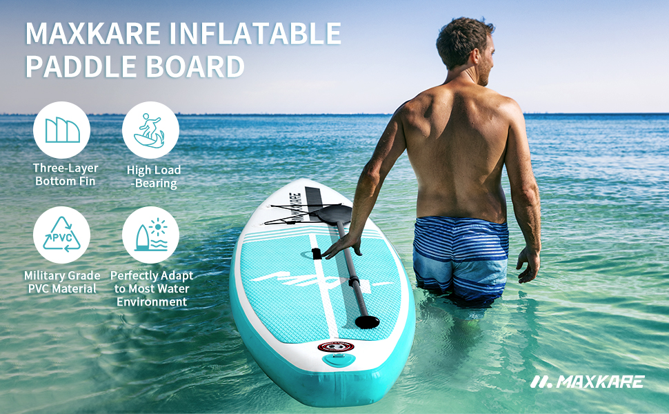MaxKare Inflatable Stand Up Paddle Board