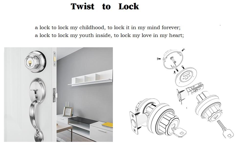 keyless deadbolt lock