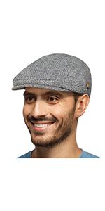 mens wool blend newsboy flat cap gatsby ivy gatsby irish snap hat winter GREY fall