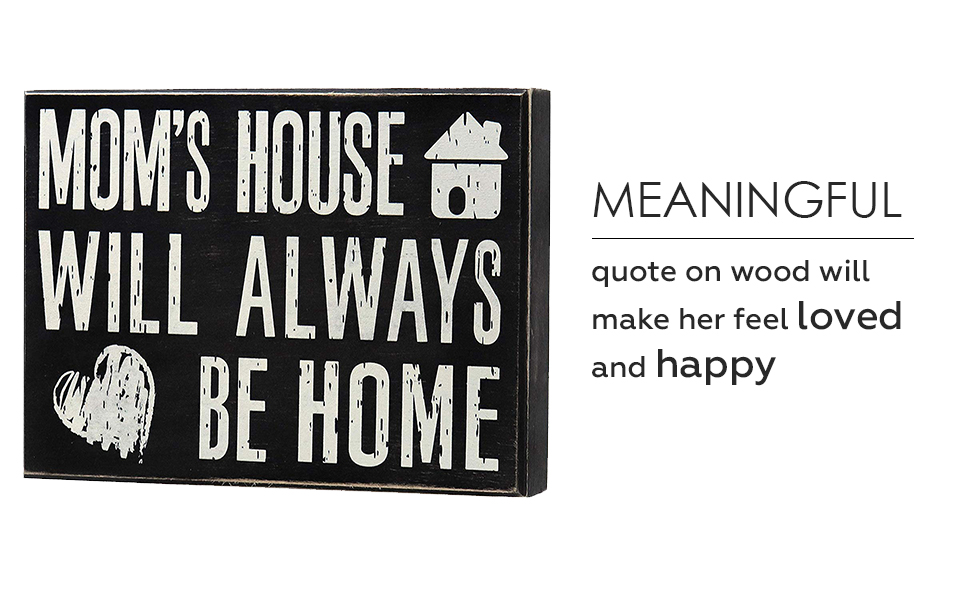 Amazon.com: JennyGems - Mom's House Will Always Be Home - Wooden ...