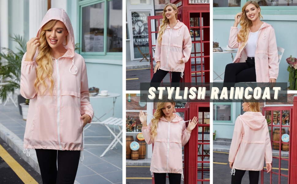 Performance women raincoat