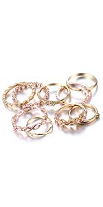 finger knuckle bohemian rings set