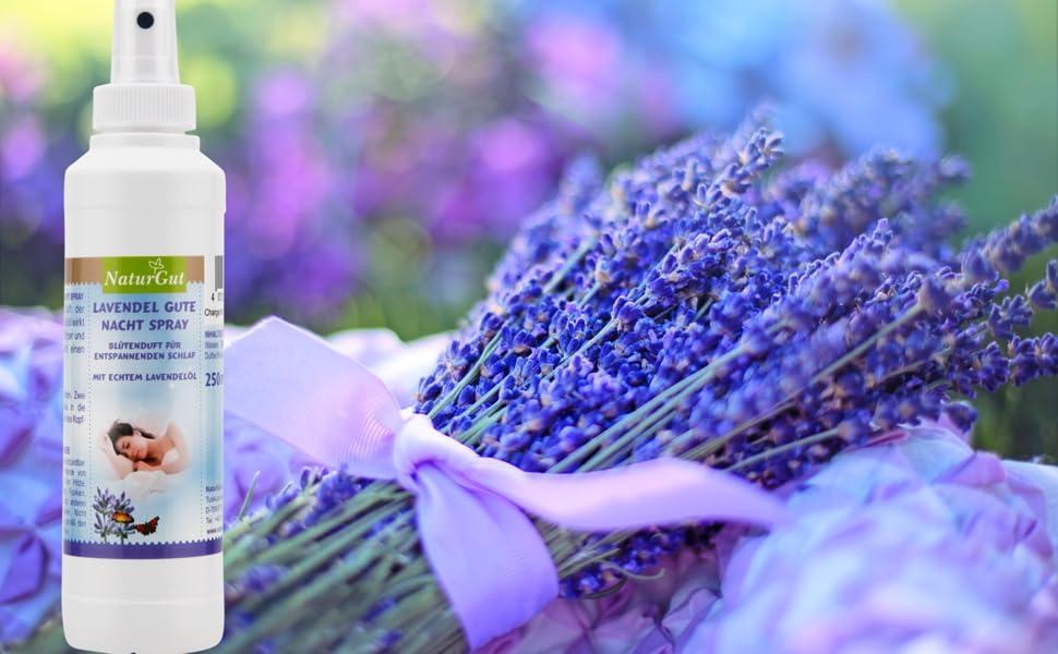 NaturGut Lavendel Gute Nacht Spray 250ml mit echtem