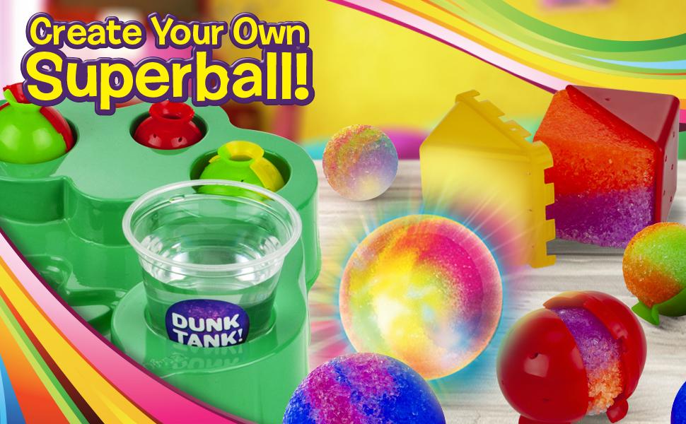 NEW MAKE YOUR OWN BOUNCING BOUNCY BALLS CRAFT KIT SET GRAFIX