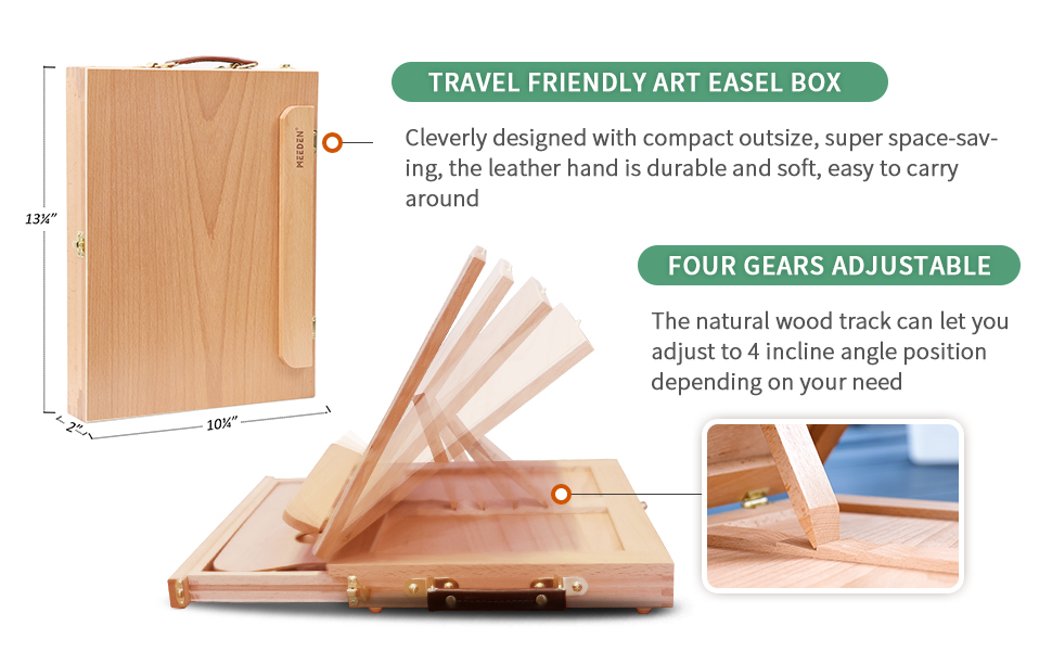 sketching &ldrawing board easel for teens table top painting easel flat surface easel / sketch box