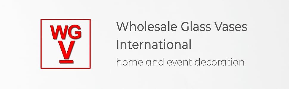 WGVI International royal imports CYS excel modern vase gift chive floral supply eastland glass vase