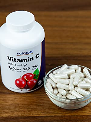Nutricost Vitamin C and Rose Hips