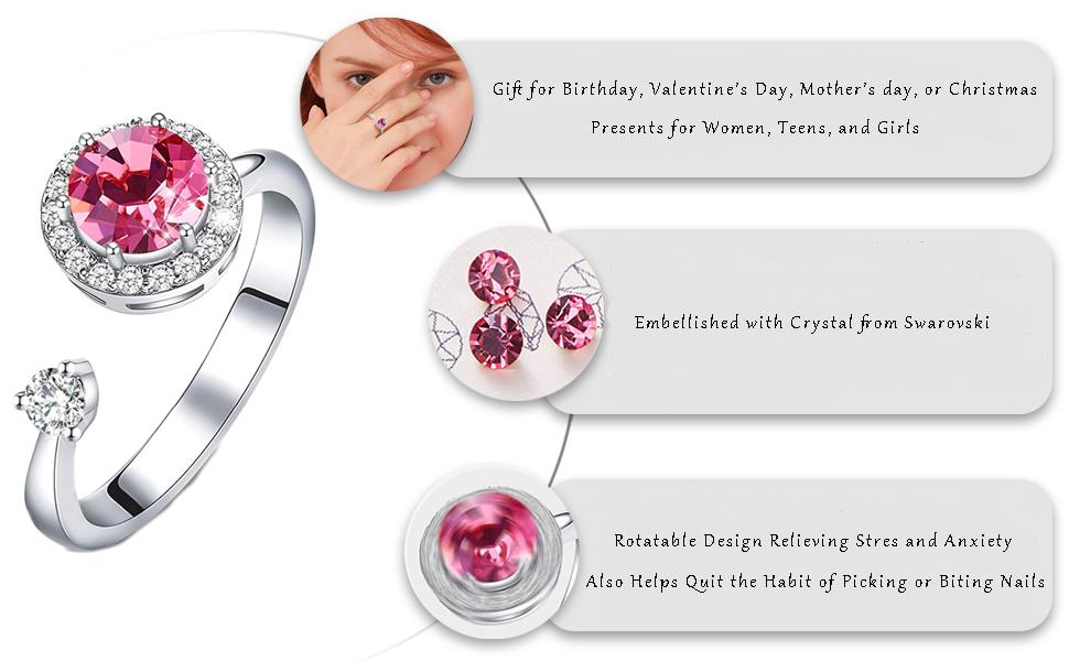 Girls adjustable ring