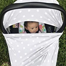baby nursing cover covers car seat carseat infant newborn gift stretchy scarf shopping cart canopy