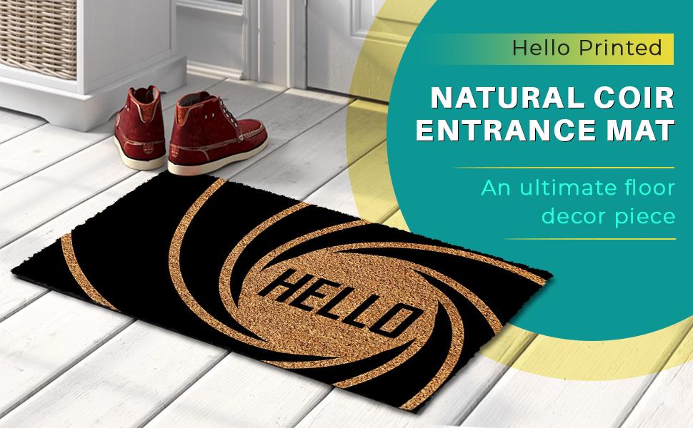 Printed Natural Coir Entrance Mat