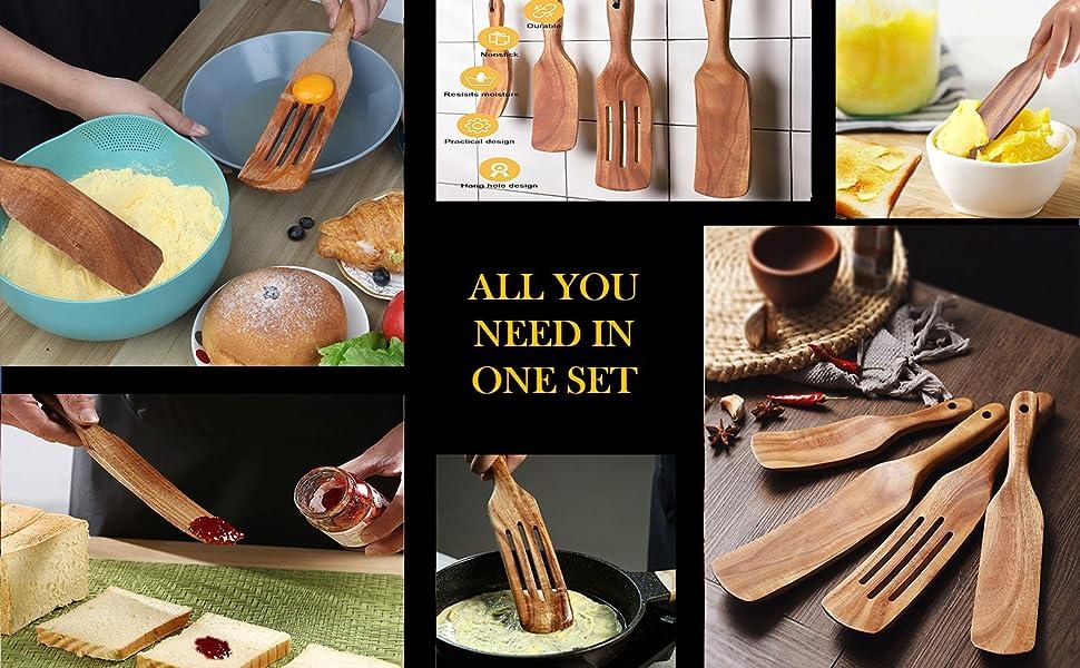 wood cooking set
