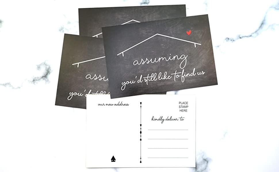 Moving announcements postcards