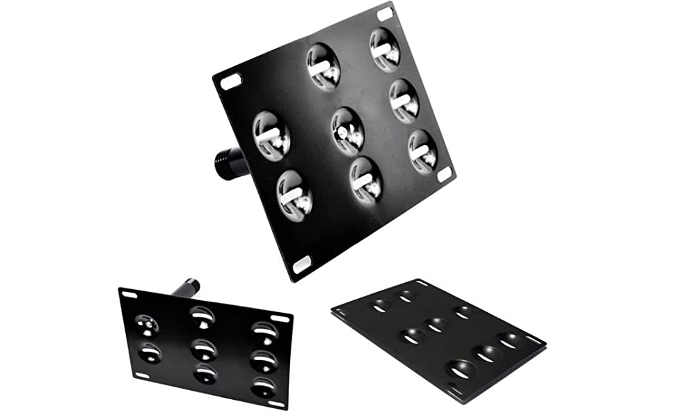 Dewhel Front Bumper Tow Hook License Plate Mounting Bracket Holder For 2011-up Hyundai Veloster