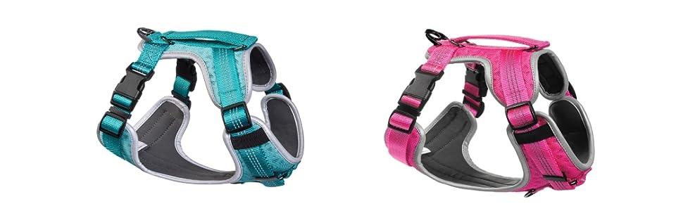 dog harness, padded dog harness, comfortable dog harness with leash set