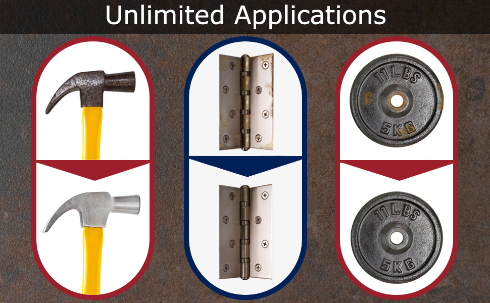 unlimited applications for metals and stainless steel