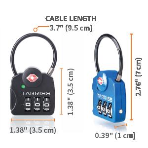 measurements tsa approved locks