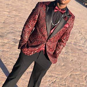 Men's Floral Party Dress Suit
