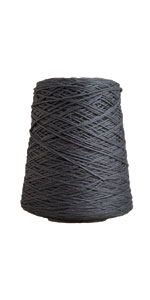 dishie cone black grey gray cone yarn